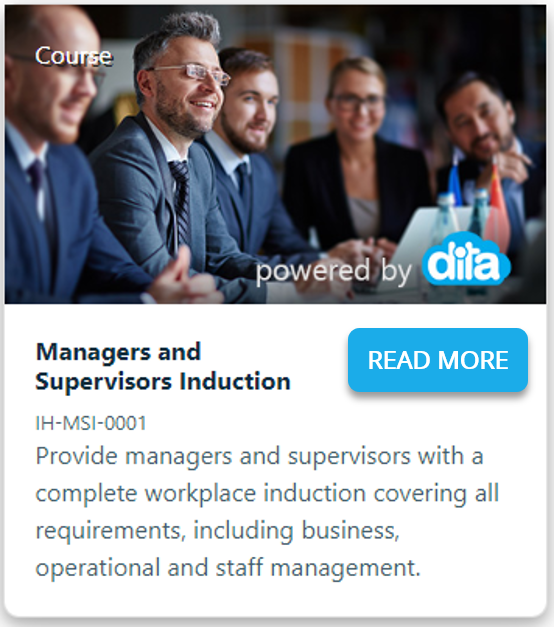 Link to online training course for managers and supervisors